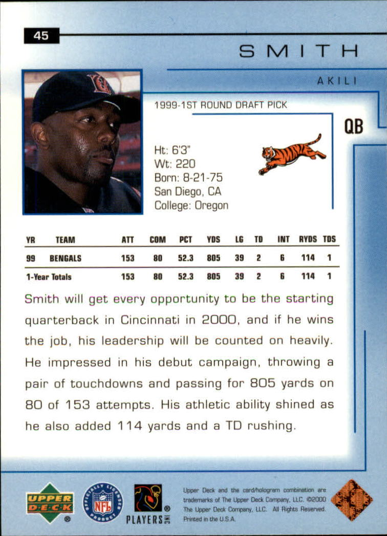 2000-Upper-Deck-Football-Card-039-s-1-200-You-Pick-Buy-10-cards-FREE-SHIP thumbnail 65