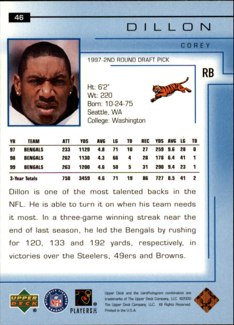 2000-Upper-Deck-Football-Card-039-s-1-200-You-Pick-Buy-10-cards-FREE-SHIP thumbnail 67