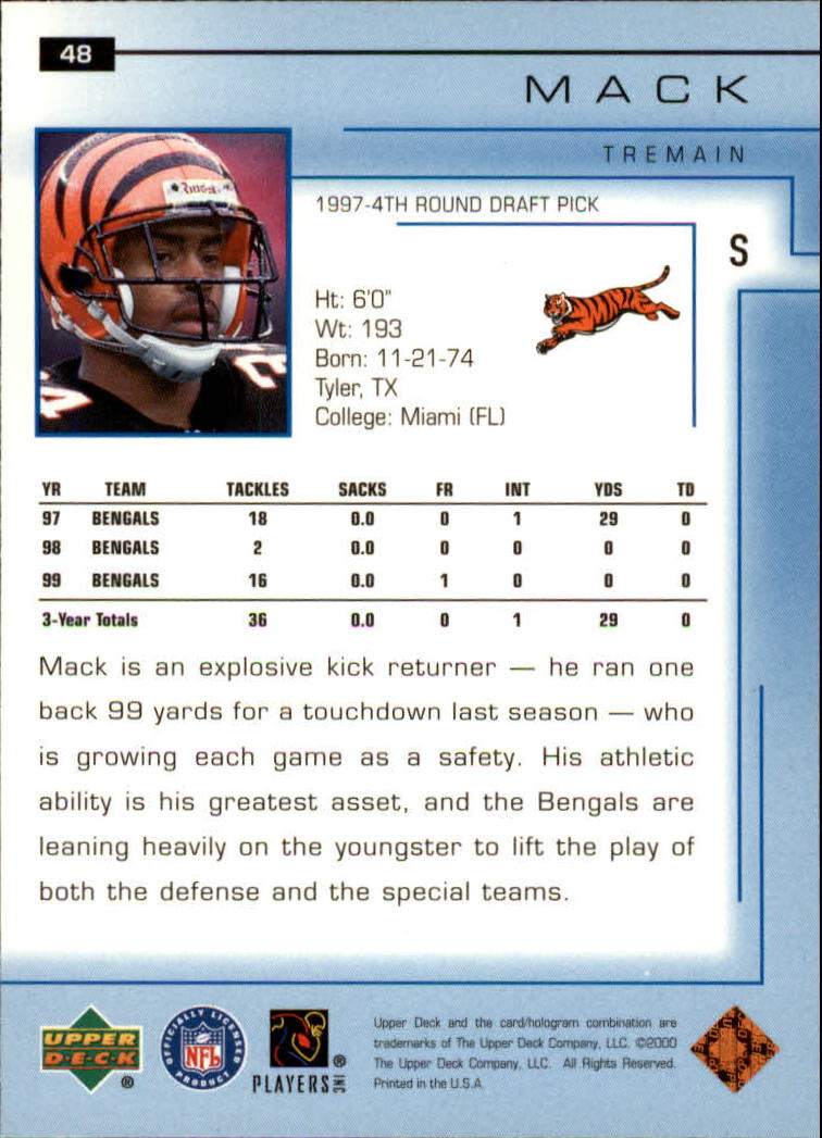 2000-Upper-Deck-Football-Card-039-s-1-200-You-Pick-Buy-10-cards-FREE-SHIP thumbnail 69
