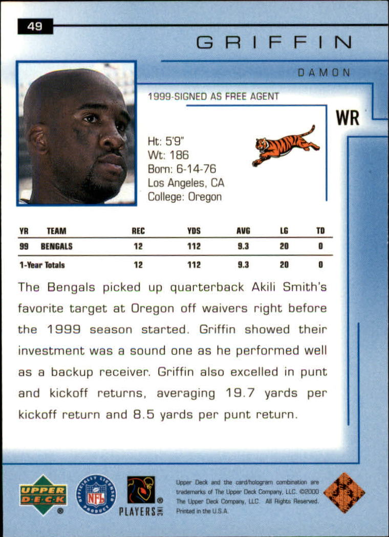 2000-Upper-Deck-Football-Card-039-s-1-200-You-Pick-Buy-10-cards-FREE-SHIP thumbnail 71