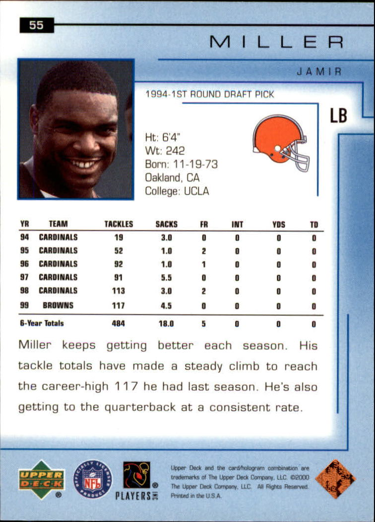 2000-Upper-Deck-Football-Card-039-s-1-200-You-Pick-Buy-10-cards-FREE-SHIP thumbnail 79