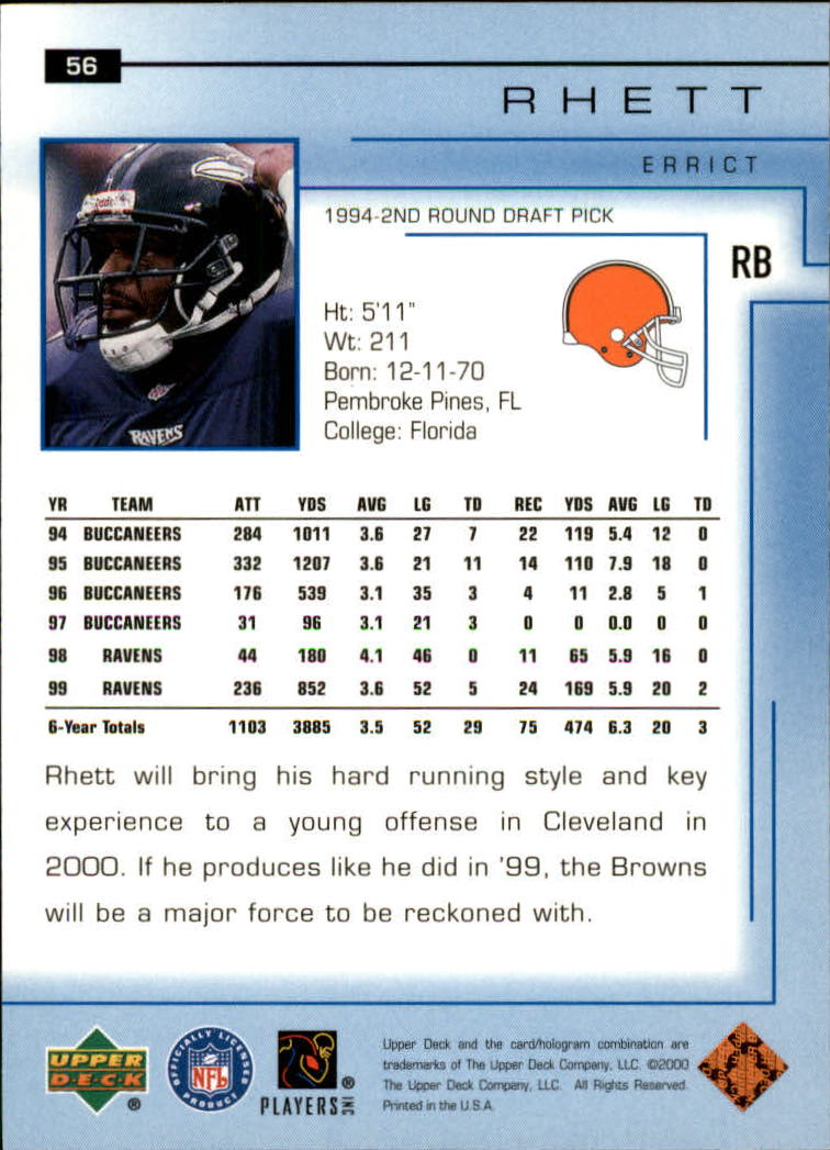 2000-Upper-Deck-Football-Card-039-s-1-200-You-Pick-Buy-10-cards-FREE-SHIP thumbnail 81