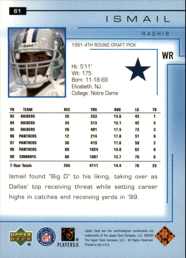 2000-Upper-Deck-Football-Card-039-s-1-200-You-Pick-Buy-10-cards-FREE-SHIP thumbnail 87