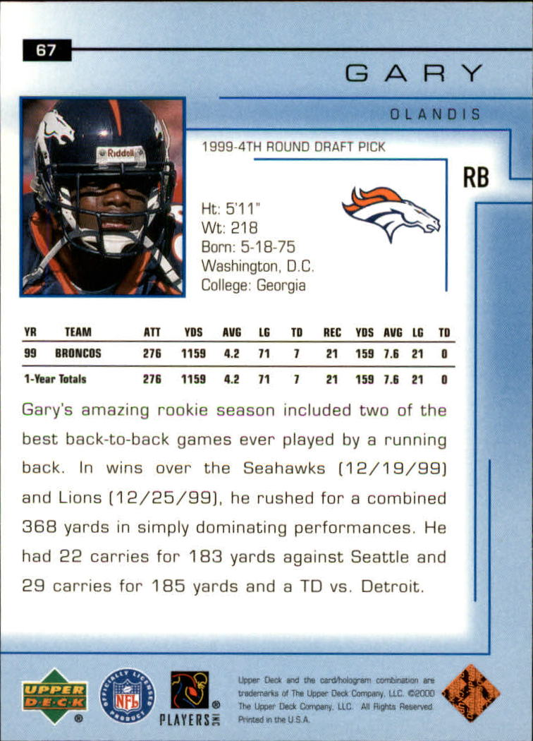 2000-Upper-Deck-Football-Card-039-s-1-200-You-Pick-Buy-10-cards-FREE-SHIP thumbnail 95