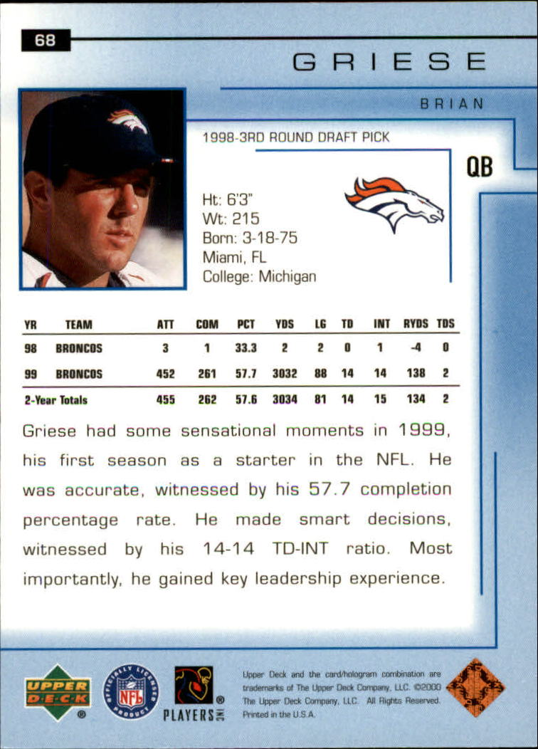 2000-Upper-Deck-Football-Card-039-s-1-200-You-Pick-Buy-10-cards-FREE-SHIP thumbnail 97