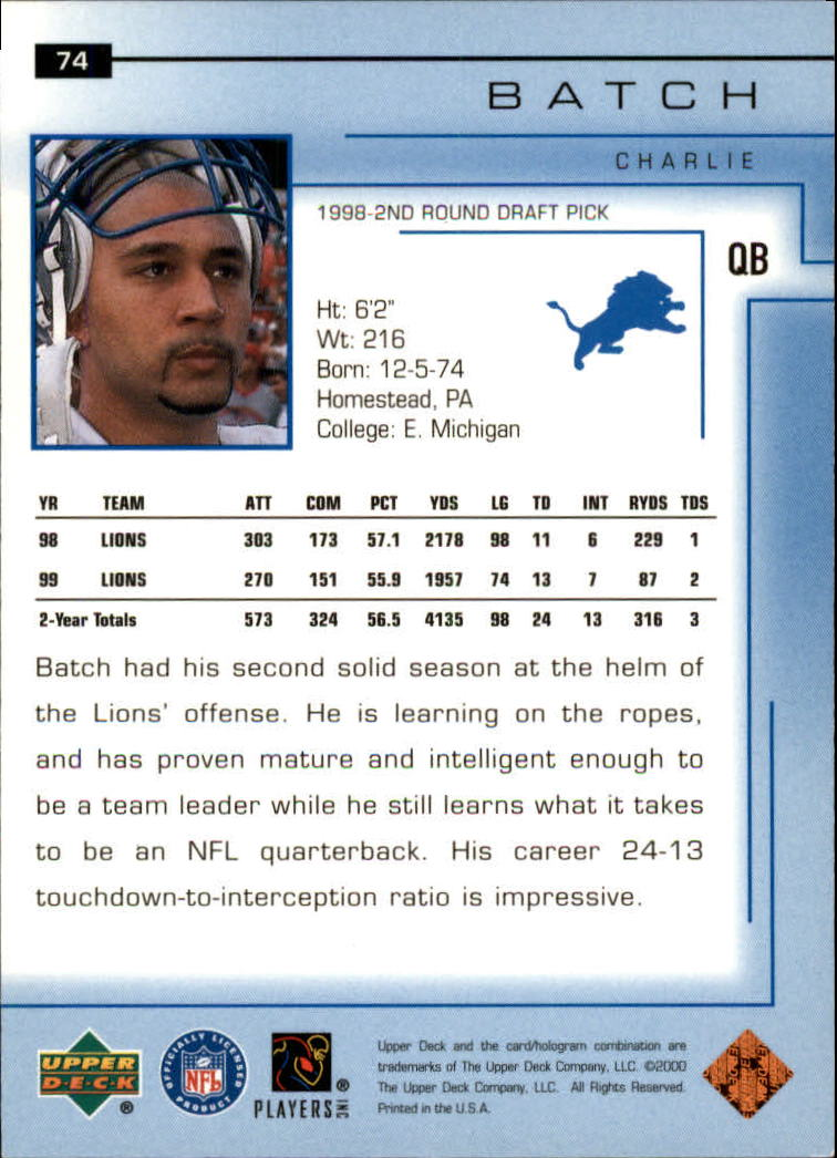 2000-Upper-Deck-Football-Card-039-s-1-200-You-Pick-Buy-10-cards-FREE-SHIP thumbnail 107