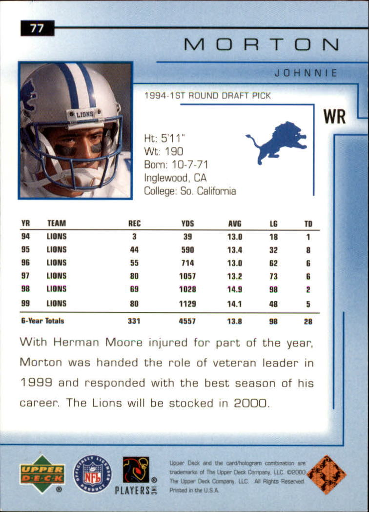 2000-Upper-Deck-Football-Card-039-s-1-200-You-Pick-Buy-10-cards-FREE-SHIP thumbnail 113