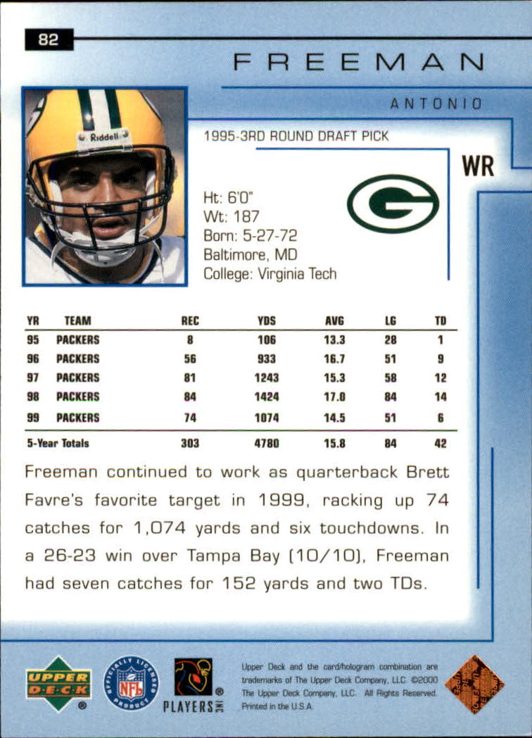 2000-Upper-Deck-Football-Card-039-s-1-200-You-Pick-Buy-10-cards-FREE-SHIP thumbnail 121