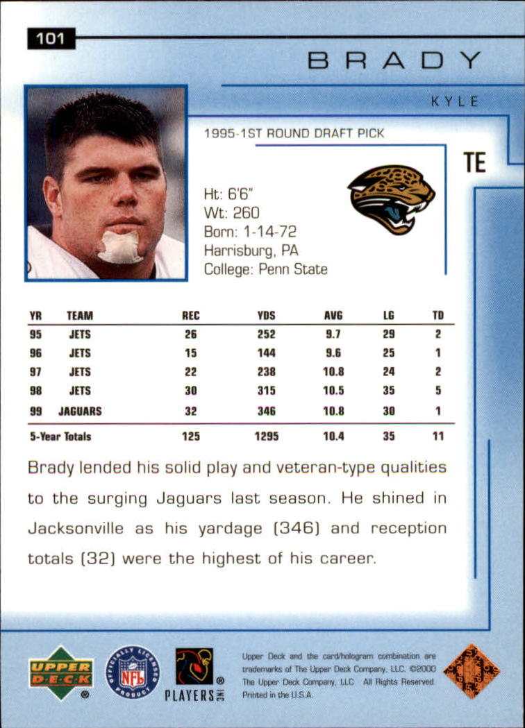2000-Upper-Deck-Football-Card-039-s-1-200-You-Pick-Buy-10-cards-FREE-SHIP thumbnail 127
