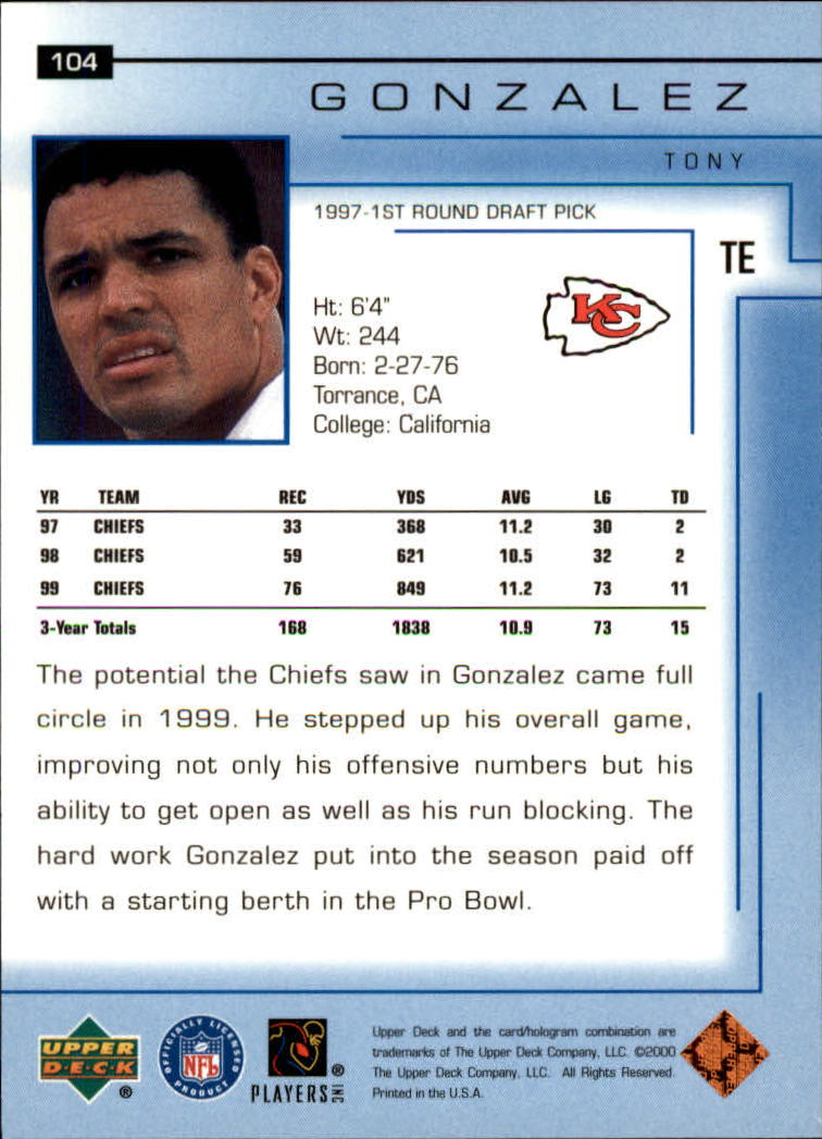 2000-Upper-Deck-Football-Card-039-s-1-200-You-Pick-Buy-10-cards-FREE-SHIP thumbnail 133