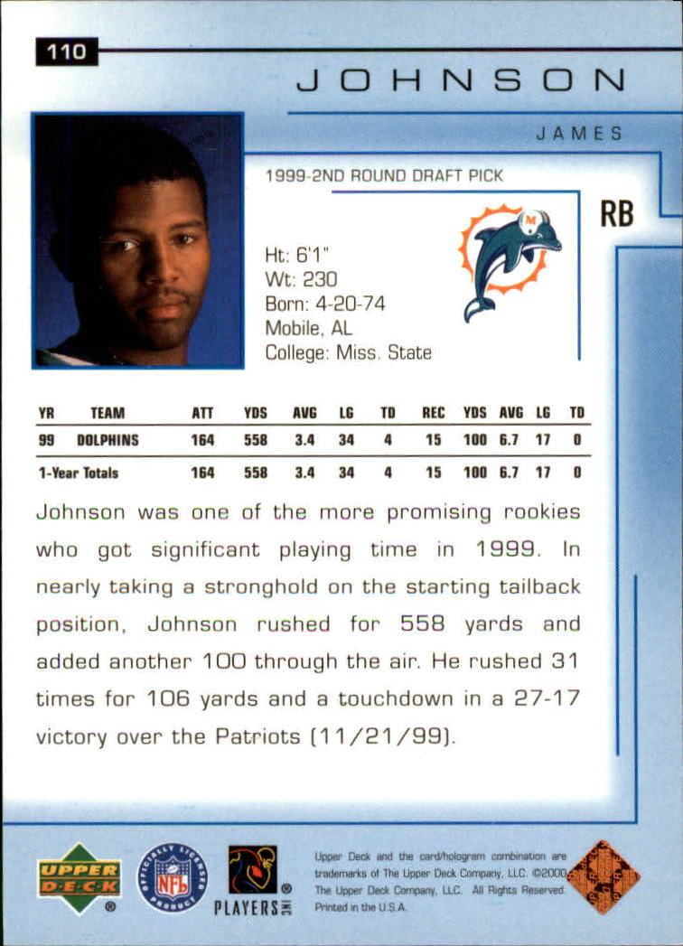 2000-Upper-Deck-Football-Card-039-s-1-200-You-Pick-Buy-10-cards-FREE-SHIP thumbnail 143