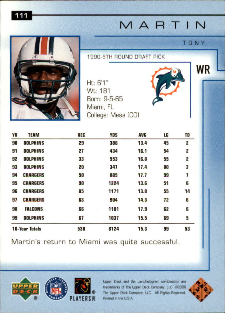 2000-Upper-Deck-Football-Card-039-s-1-200-You-Pick-Buy-10-cards-FREE-SHIP thumbnail 145