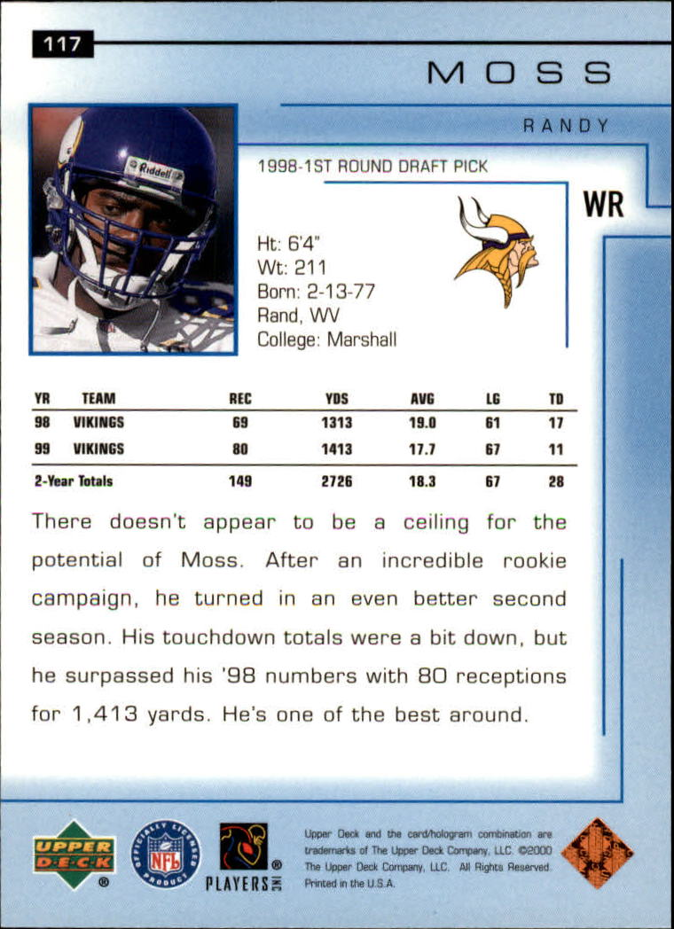 2000-Upper-Deck-Football-Card-039-s-1-200-You-Pick-Buy-10-cards-FREE-SHIP thumbnail 157
