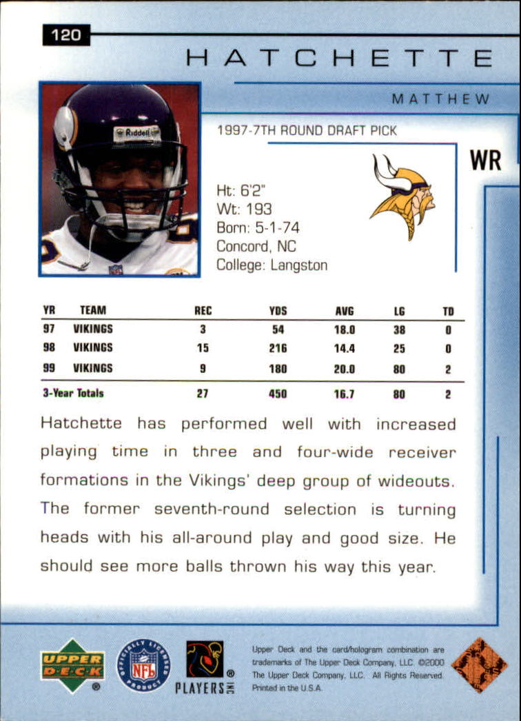 2000-Upper-Deck-Football-Card-039-s-1-200-You-Pick-Buy-10-cards-FREE-SHIP thumbnail 159