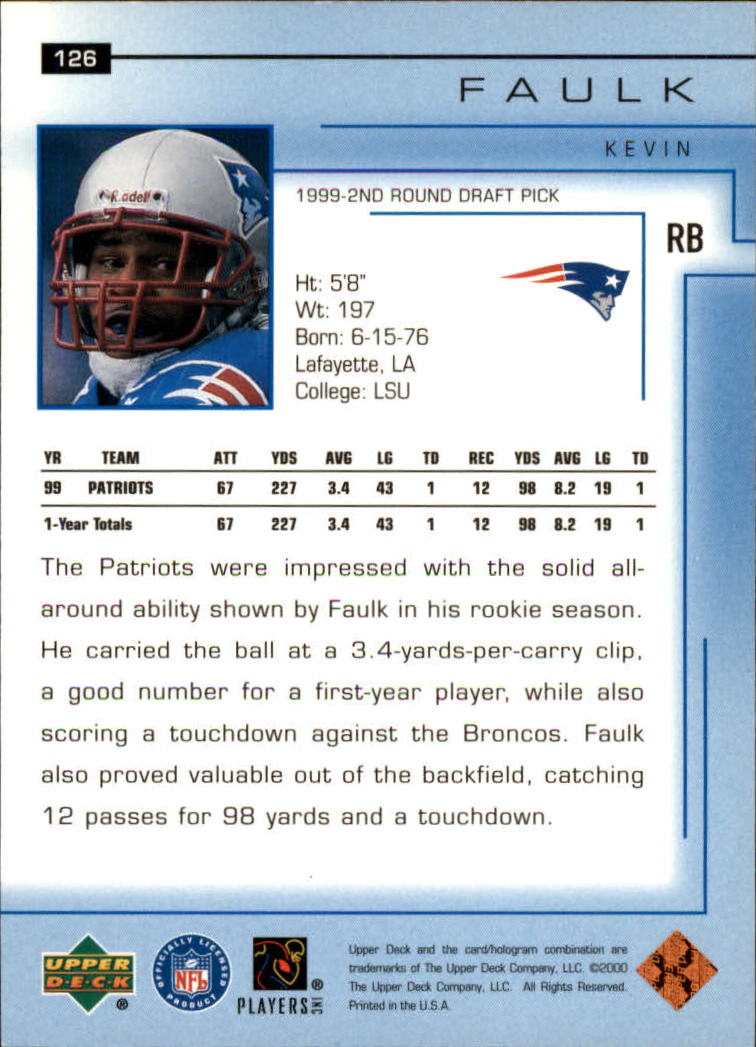 2000-Upper-Deck-Football-Card-039-s-1-200-You-Pick-Buy-10-cards-FREE-SHIP thumbnail 169