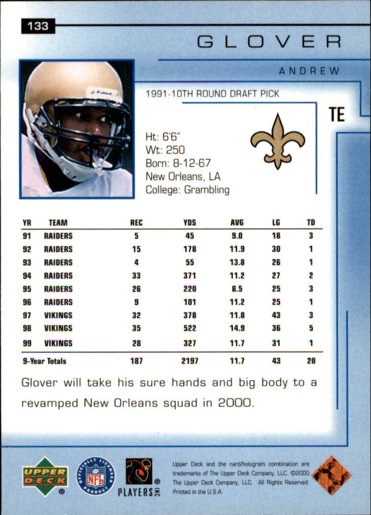 2000-Upper-Deck-Football-Card-039-s-1-200-You-Pick-Buy-10-cards-FREE-SHIP thumbnail 173