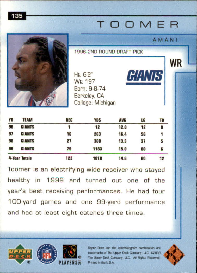 2000-Upper-Deck-Football-Card-039-s-1-200-You-Pick-Buy-10-cards-FREE-SHIP thumbnail 177