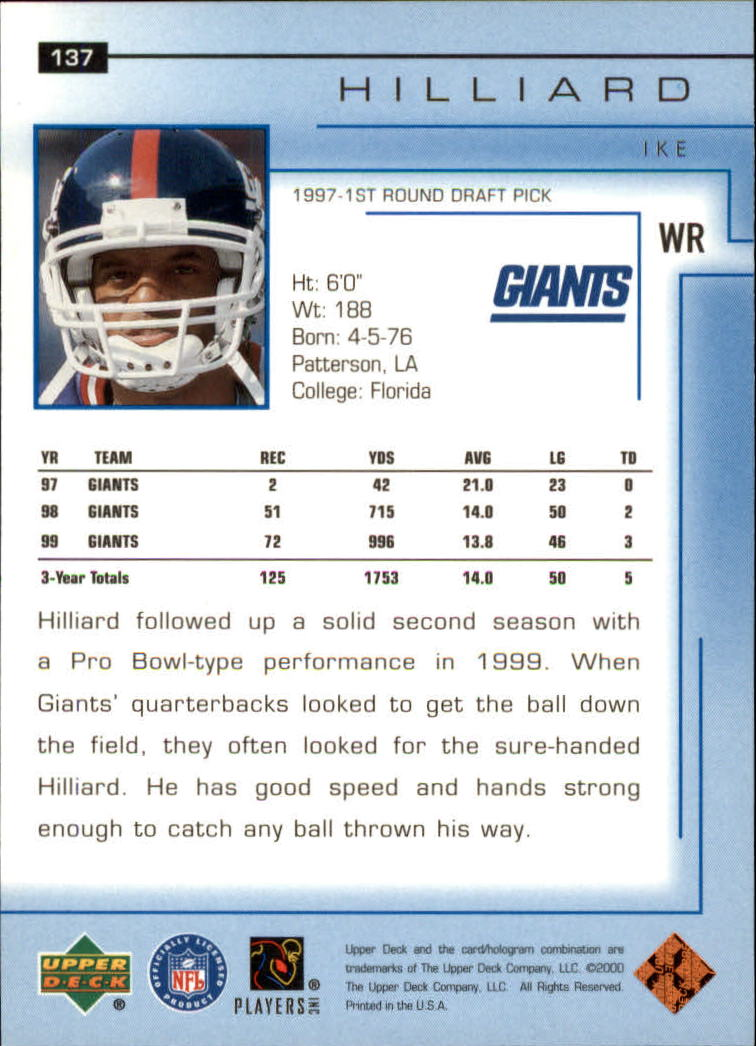 2000-Upper-Deck-Football-Card-039-s-1-200-You-Pick-Buy-10-cards-FREE-SHIP thumbnail 181