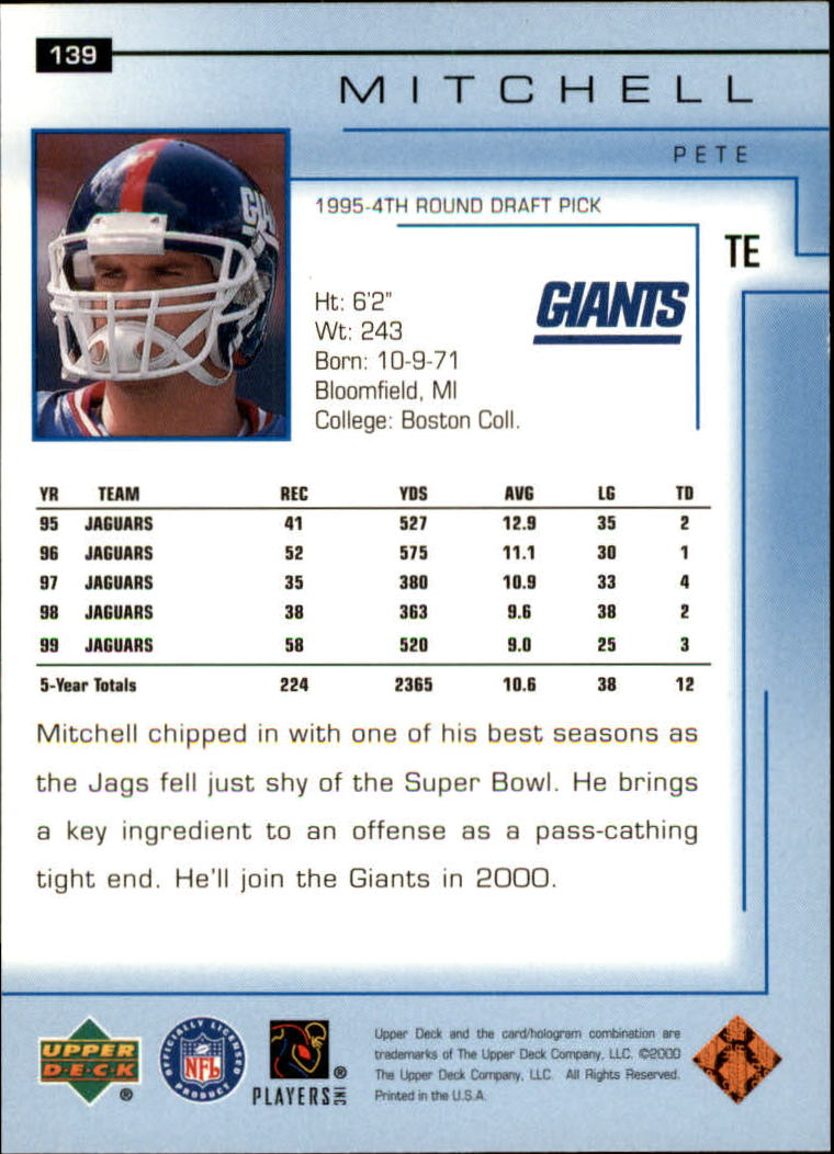 2000-Upper-Deck-Football-Card-039-s-1-200-You-Pick-Buy-10-cards-FREE-SHIP thumbnail 183