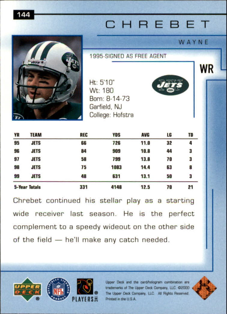 2000-Upper-Deck-Football-Card-039-s-1-200-You-Pick-Buy-10-cards-FREE-SHIP thumbnail 189