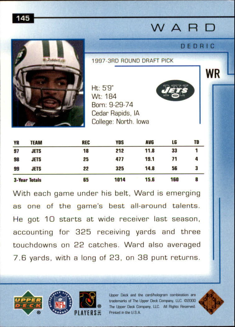2000-Upper-Deck-Football-Card-039-s-1-200-You-Pick-Buy-10-cards-FREE-SHIP thumbnail 191