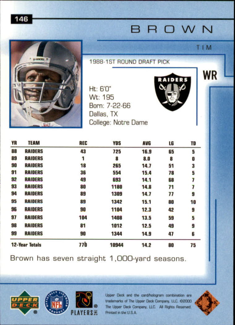 2000-Upper-Deck-Football-Card-039-s-1-200-You-Pick-Buy-10-cards-FREE-SHIP thumbnail 193