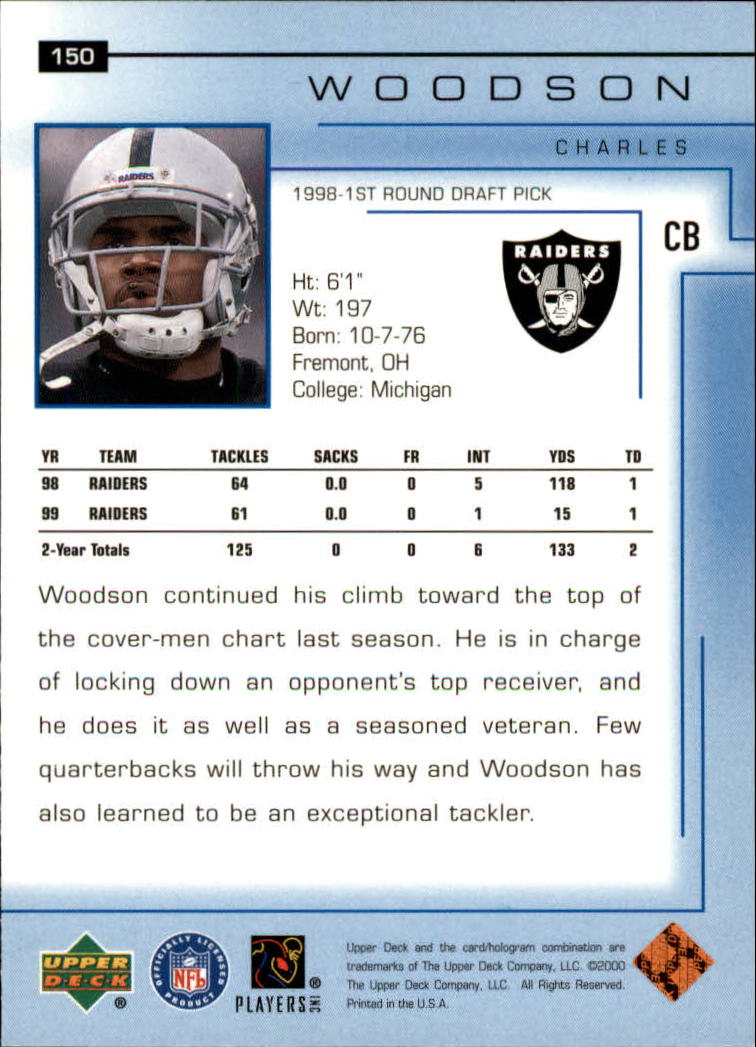 2000-Upper-Deck-Football-Card-039-s-1-200-You-Pick-Buy-10-cards-FREE-SHIP thumbnail 197