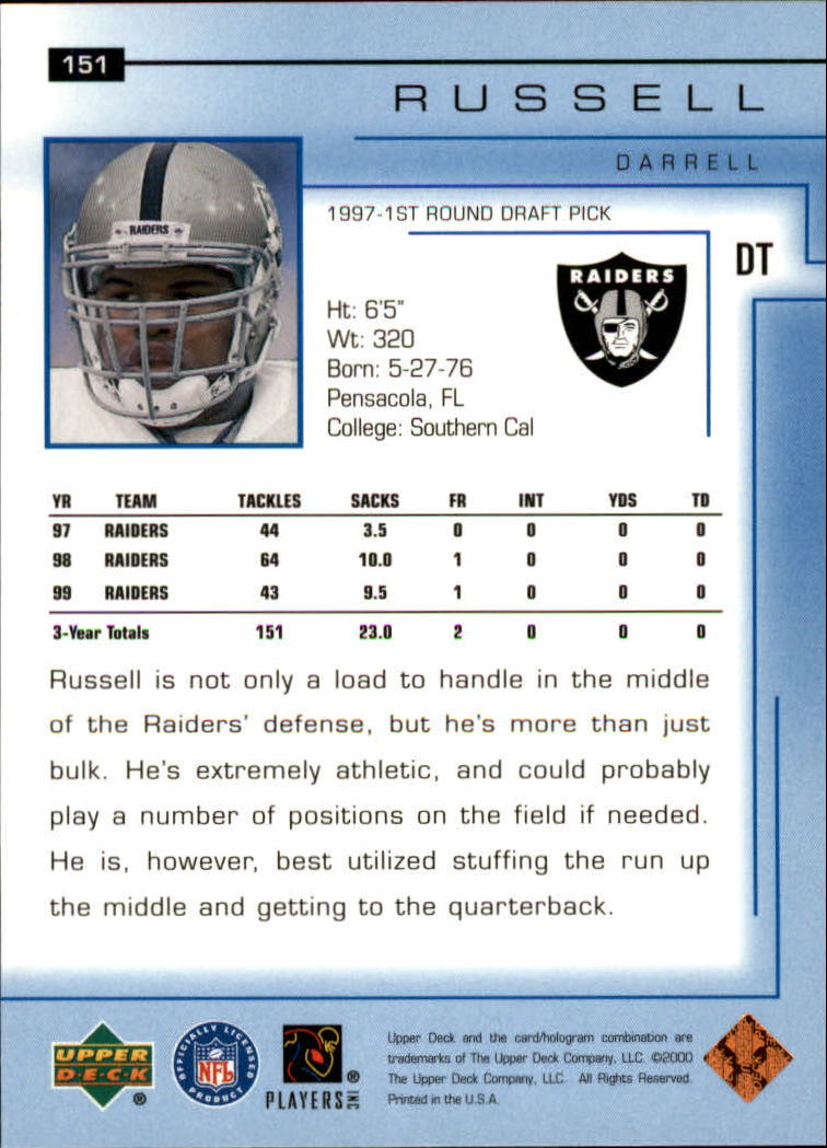 2000-Upper-Deck-Football-Card-039-s-1-200-You-Pick-Buy-10-cards-FREE-SHIP thumbnail 199