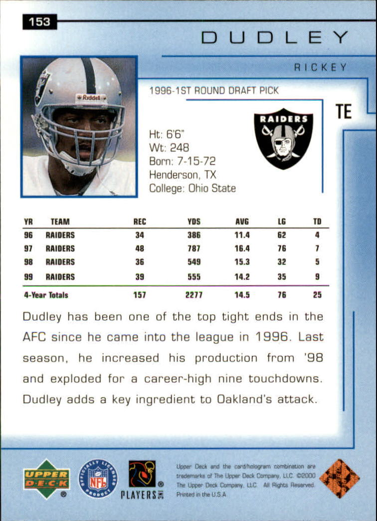 2000-Upper-Deck-Football-Card-039-s-1-200-You-Pick-Buy-10-cards-FREE-SHIP thumbnail 201
