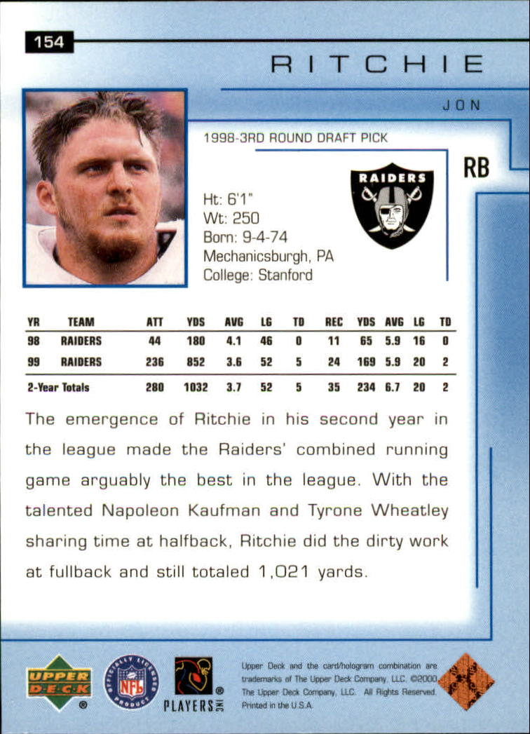 2000-Upper-Deck-Football-Card-039-s-1-200-You-Pick-Buy-10-cards-FREE-SHIP thumbnail 203