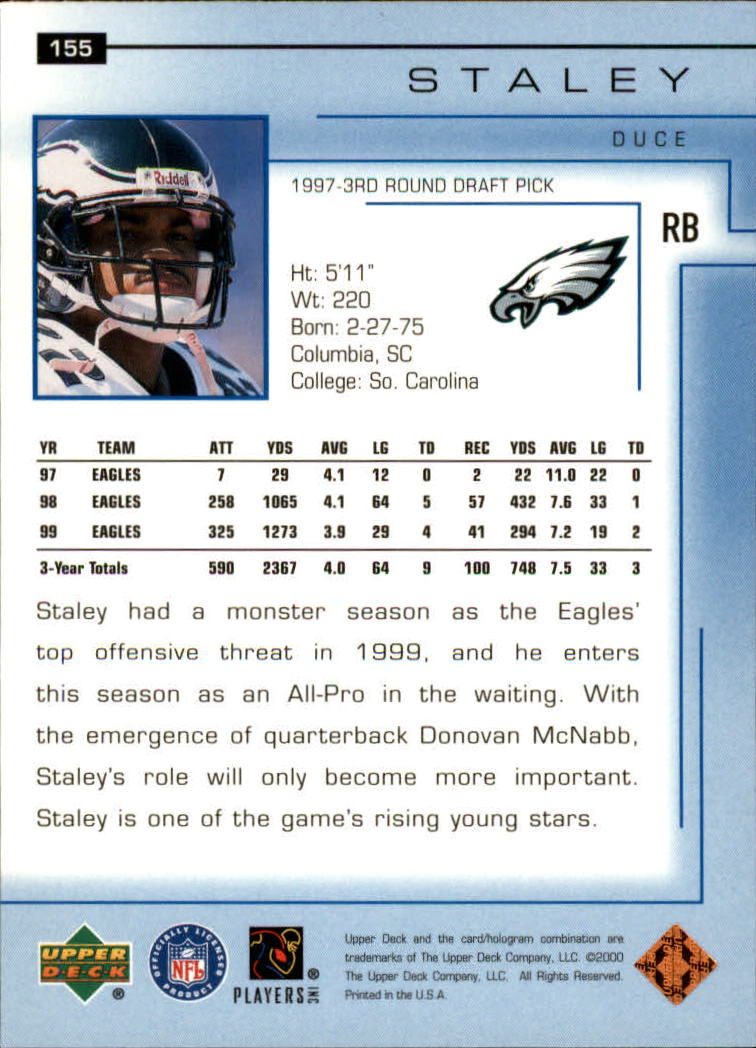 2000-Upper-Deck-Football-Card-039-s-1-200-You-Pick-Buy-10-cards-FREE-SHIP thumbnail 205