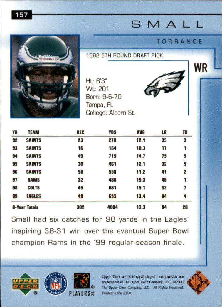 2000-Upper-Deck-Football-Card-039-s-1-200-You-Pick-Buy-10-cards-FREE-SHIP thumbnail 207