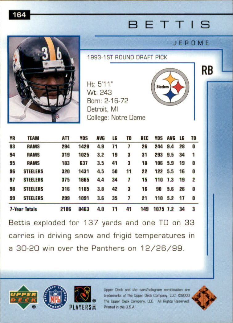 2000-Upper-Deck-Football-Card-039-s-1-200-You-Pick-Buy-10-cards-FREE-SHIP thumbnail 217