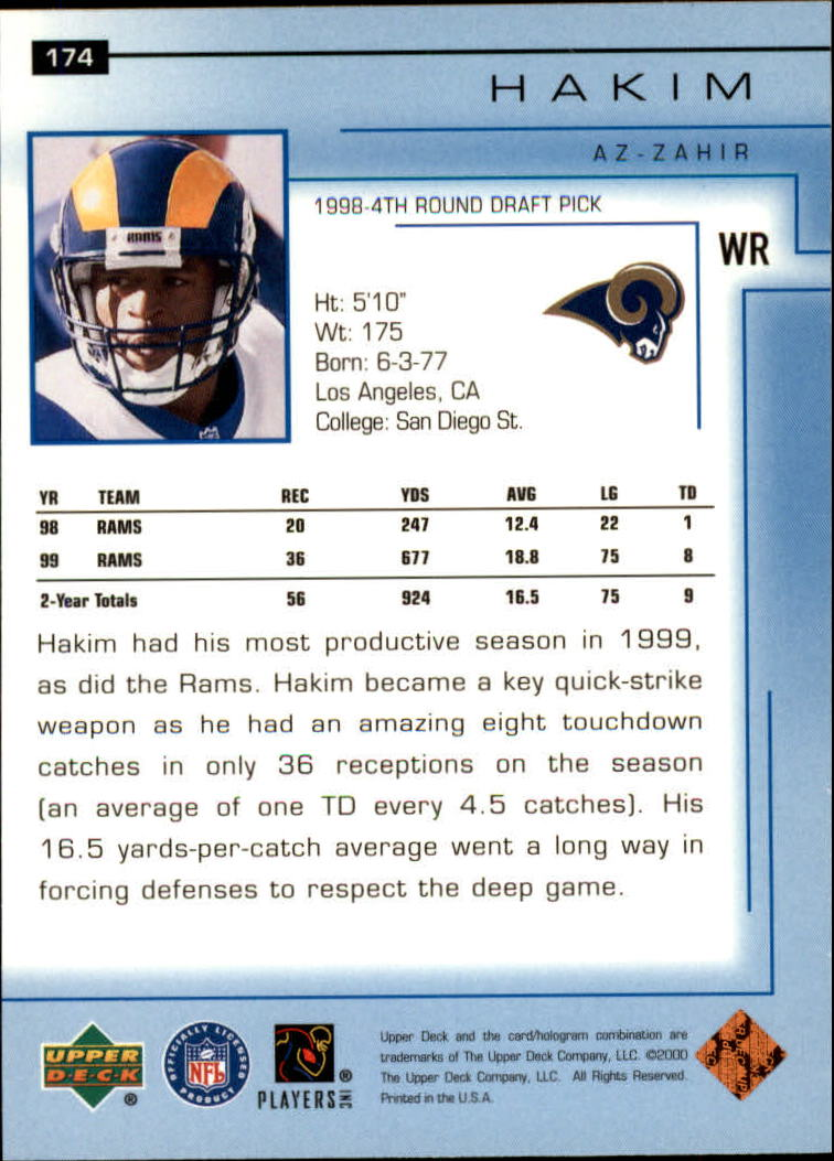 2000-Upper-Deck-Football-Card-039-s-1-200-You-Pick-Buy-10-cards-FREE-SHIP thumbnail 233
