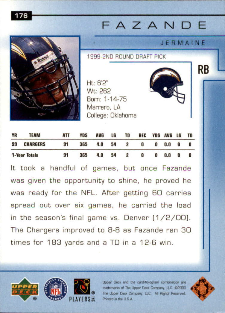 2000-Upper-Deck-Football-Card-039-s-1-200-You-Pick-Buy-10-cards-FREE-SHIP thumbnail 237