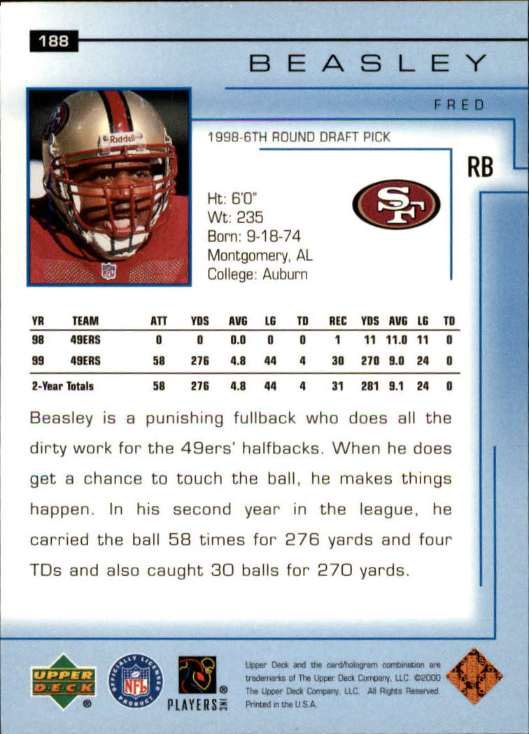 2000-Upper-Deck-Football-Card-039-s-1-200-You-Pick-Buy-10-cards-FREE-SHIP thumbnail 255