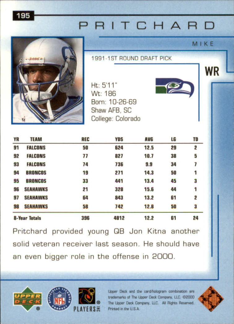 2000-Upper-Deck-Football-Card-039-s-1-200-You-Pick-Buy-10-cards-FREE-SHIP thumbnail 261
