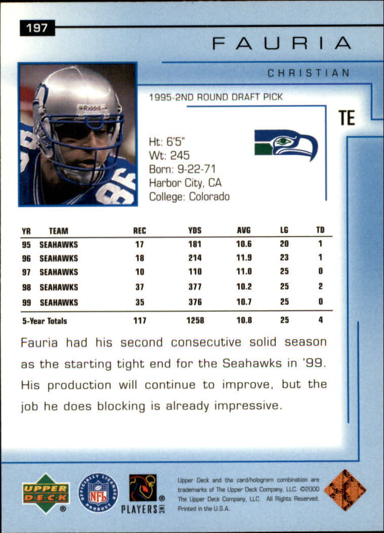 2000-Upper-Deck-Football-Card-039-s-1-200-You-Pick-Buy-10-cards-FREE-SHIP thumbnail 263