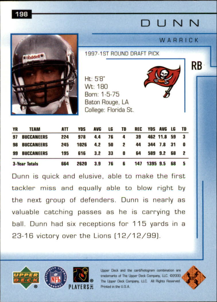 2000-Upper-Deck-Football-Card-039-s-1-200-You-Pick-Buy-10-cards-FREE-SHIP thumbnail 265
