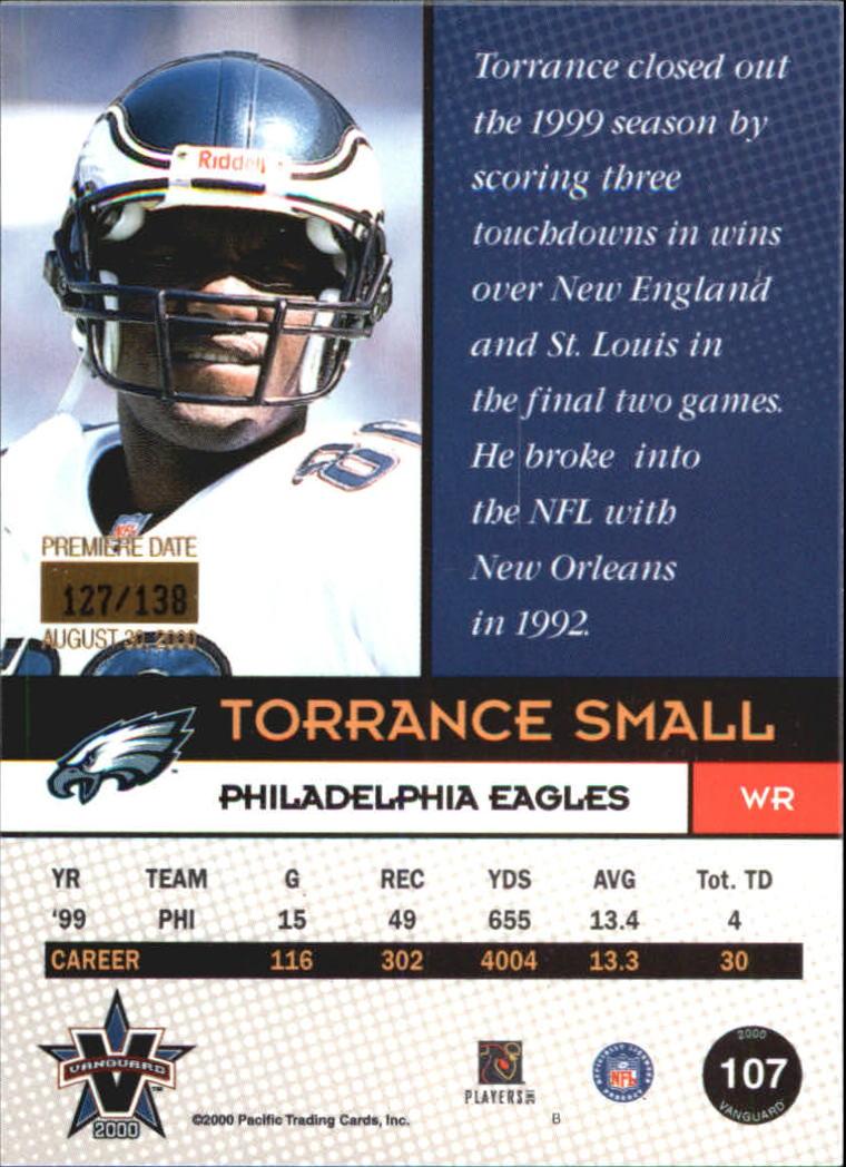 2000 Vanguard Premiere Date #107 Torrance Small back image