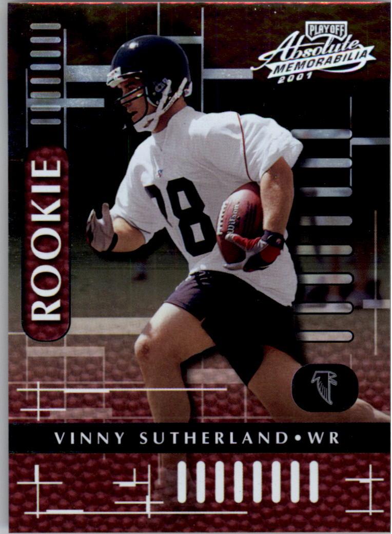 2001 Absolute Memorabilia #110 Vinny Sutherland RC