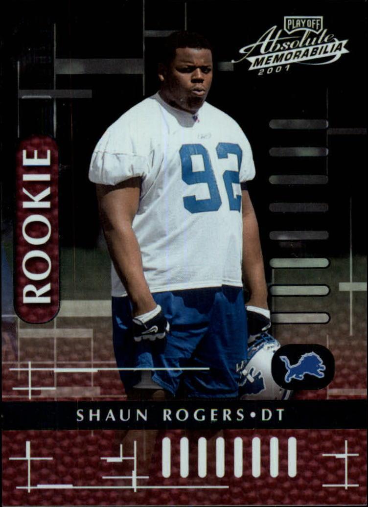2001 Absolute Memorabilia #120 Shaun Rogers RC