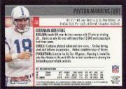 2001 Bowman Chrome #67 Peyton Manning back image