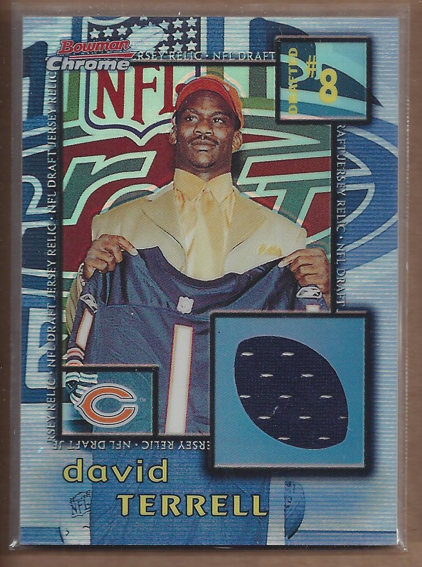 2001 Bowman Chrome Draft Day Relics #DJDT David Terrell JSY