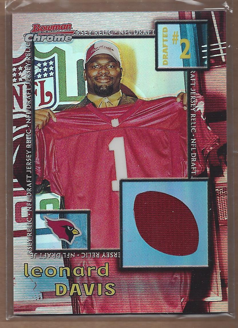 2001 Bowman Chrome Draft Day Relics #DJLD Leonard Davis JSY