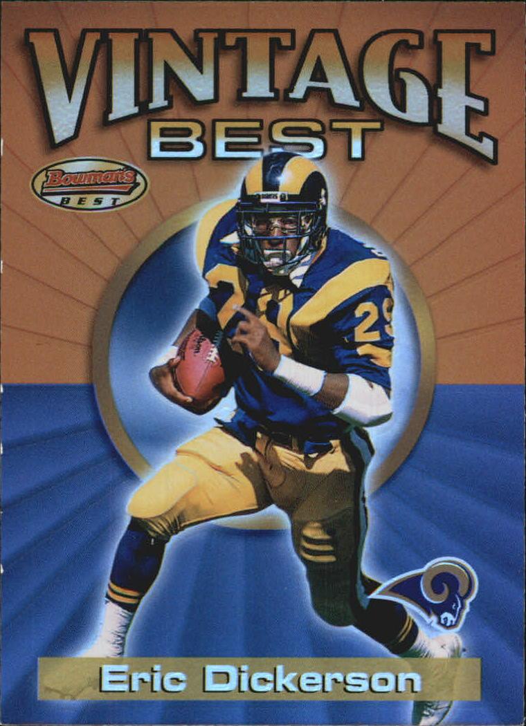 2001 Bowman's Best Vintage Best #VBED Eric Dickerson