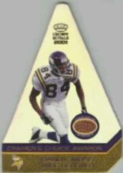2001 Crown Royale Cramers Choice Jumbos Footballs #7 Randy Moss