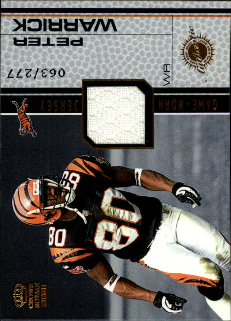 2001 Crown Royale Game Worn Jerseys #5 Peter Warrick/277