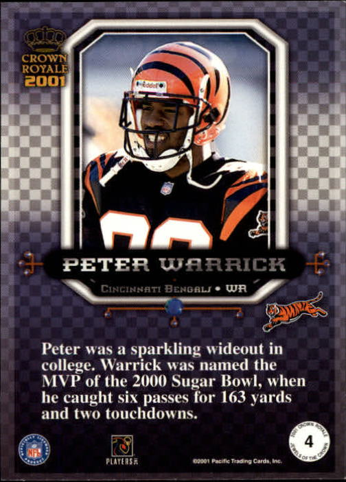 2001 Crown Royale Jewels of the Crown #4 Peter Warrick back image