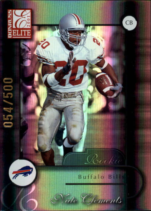 2001 Donruss Elite #193 Nate Clements RC